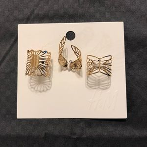 NWT H&M adjustable rings set of 3